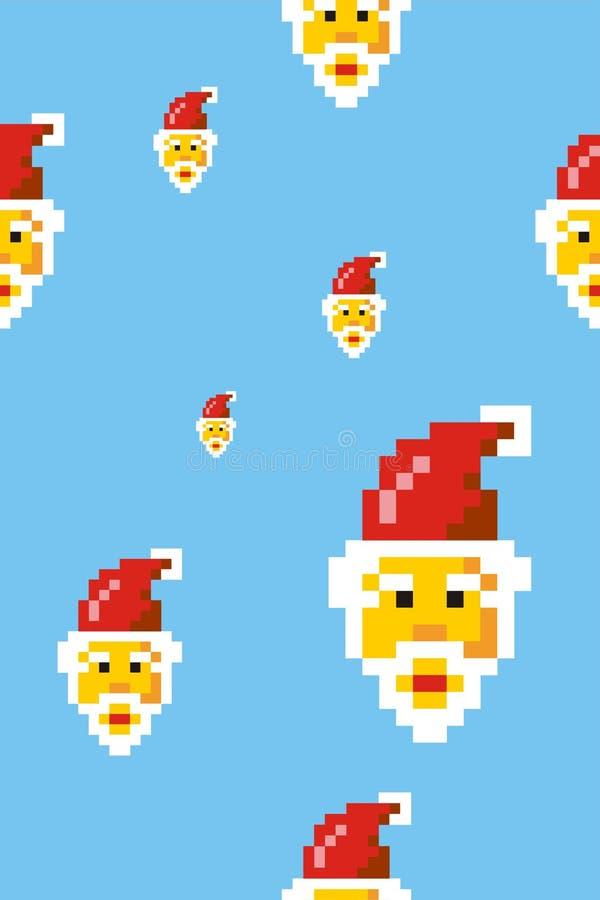 Modelo de Papá Noel stock de ilustración