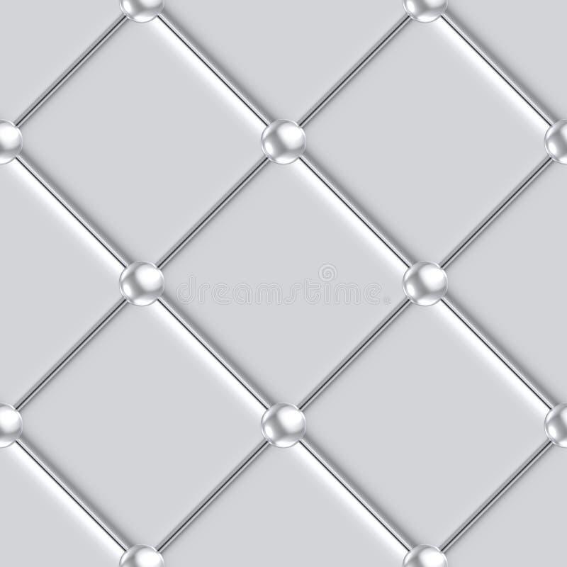 Modelo de plata de la tapicería inconsútil stock de ilustración