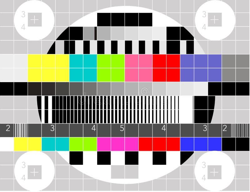 Modelo de prueba multicolor de la señal de la TV stock de ilustración