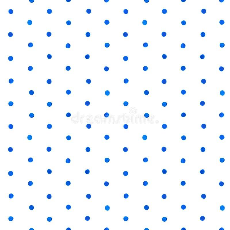 Modelo de punto del cepillo de la acuarela stock de ilustración