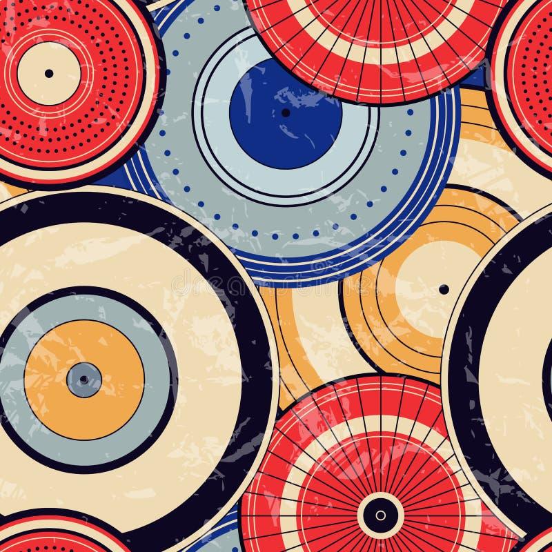 Modelo de puntos inconsútil del círculo del otoño japonés stock de ilustración