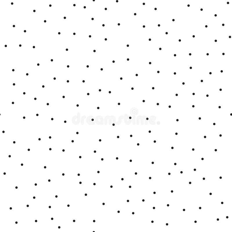 Modelo de puntos inconsútil de la baja densidad del puntillismo Tono medio monocromático abstracto Apenas descenso a las muestras stock de ilustración