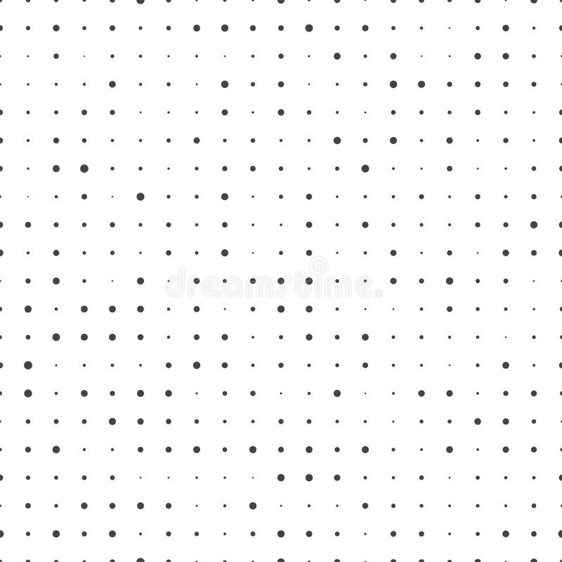 Modelo de puntos inconsútil Textura abstracta del pixel Vagos del ircle del  del vector Ñ libre illustration