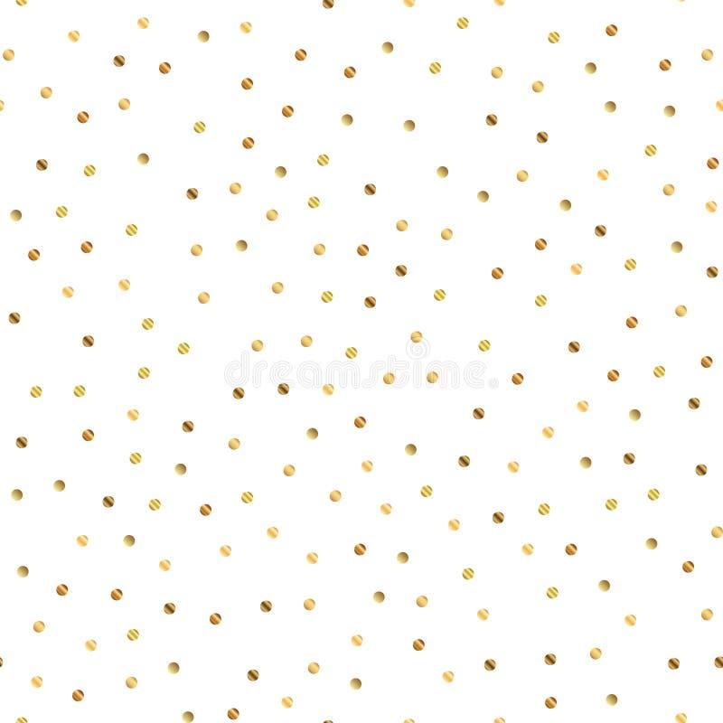Modelo de puntos de oro en el fondo blanco ilustración del vector