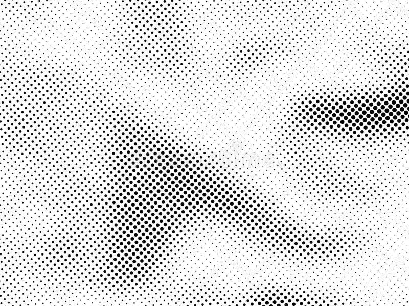 Modelo de puntos de semitono Textura punteada tono medio del Grunge Dots Overlay Texture abstracto ilustración del vector