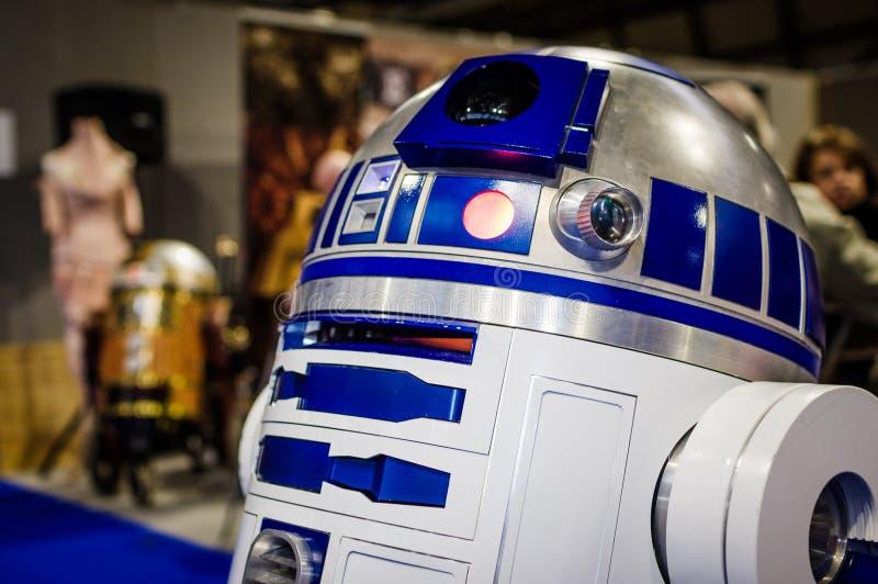 Modelo de R2-D2 de Star Wars imagens de stock