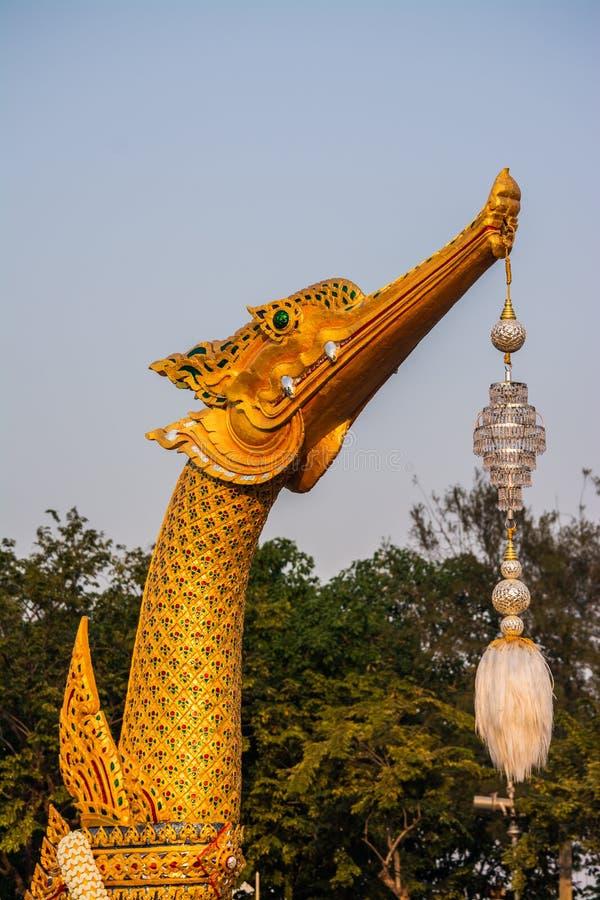Modelo de real real de Suphannahong de la gabarra cisne-formado imagen de archivo libre de regalías