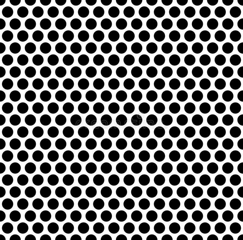 Modelo de rejilla con la rejilla, malla de círculos repetible stock de ilustración