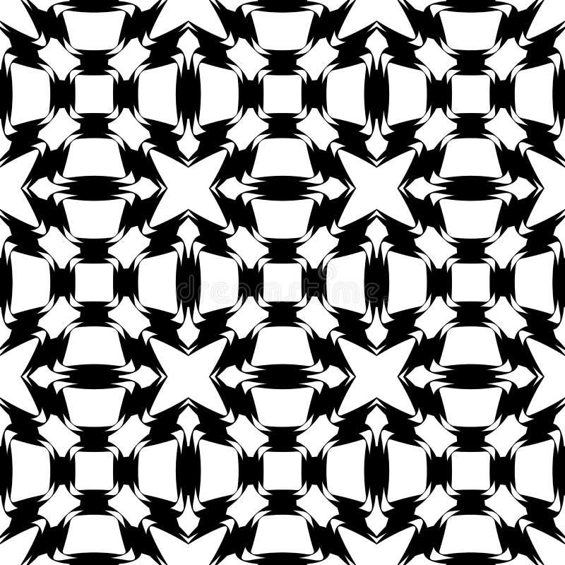 Modelo de rejilla monocromático inconsútil del diseño ilustración del vector