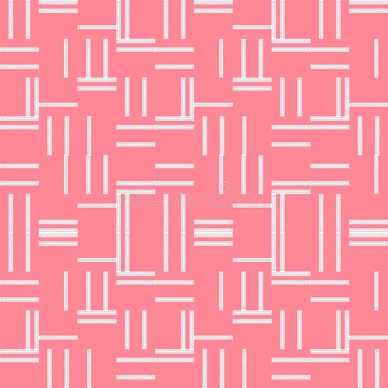 Modelo de repetición geométrico moderno del rosa y blanco de rayas verticales y horizontales ilustración del vector