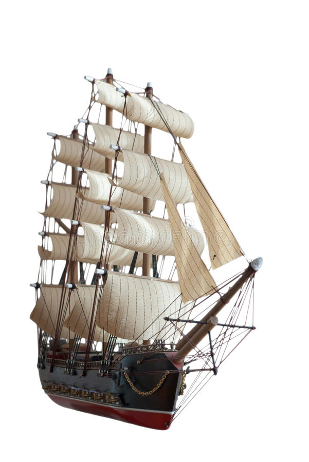 Modelo de Sailship imagem de stock royalty free