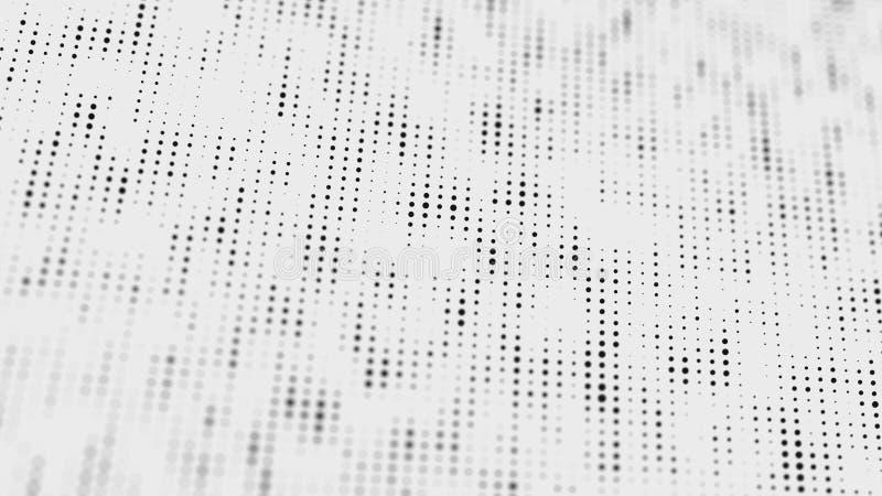 Modelo de semitono Composici?n blanco y negro Fondo de la interferencia Fondo del dise?o de la pendiente Fondo punteado extracto  ilustración del vector