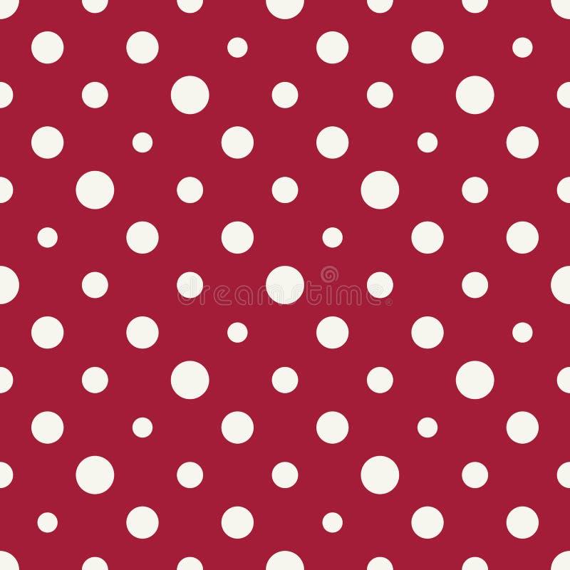 Modelo de semitono de la polca del deco del arte rojo y blanco de la geometría abstracta libre illustration