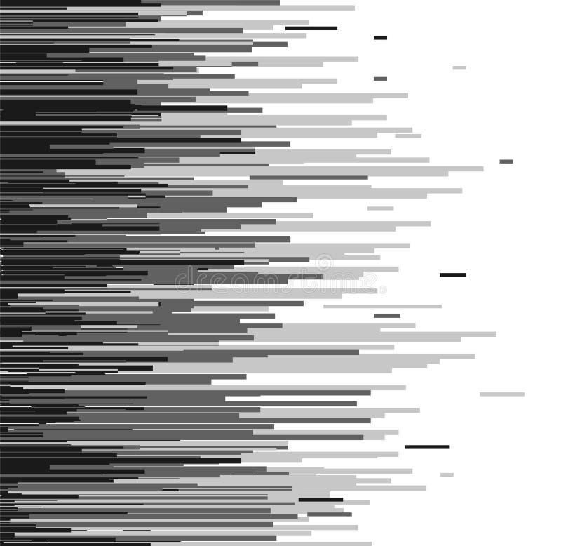 Modelo de semitono del papel pintado del extracto de la transición del vector El Irregular blanco y negro inconsútil redondeado a stock de ilustración