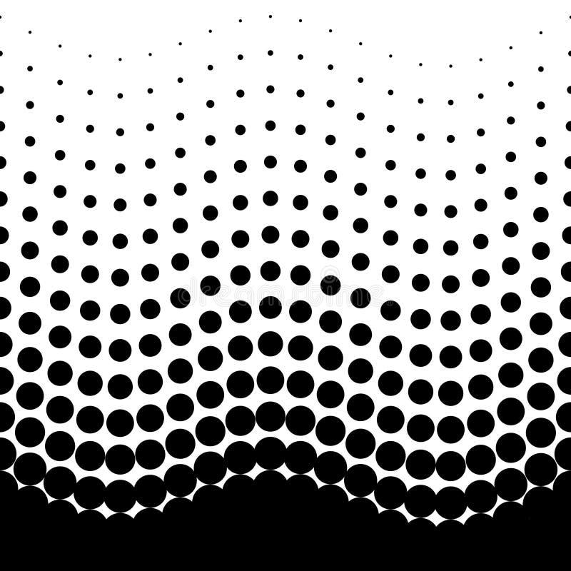 Modelo de semitono inconsútil gorizontal blanco y negro libre illustration