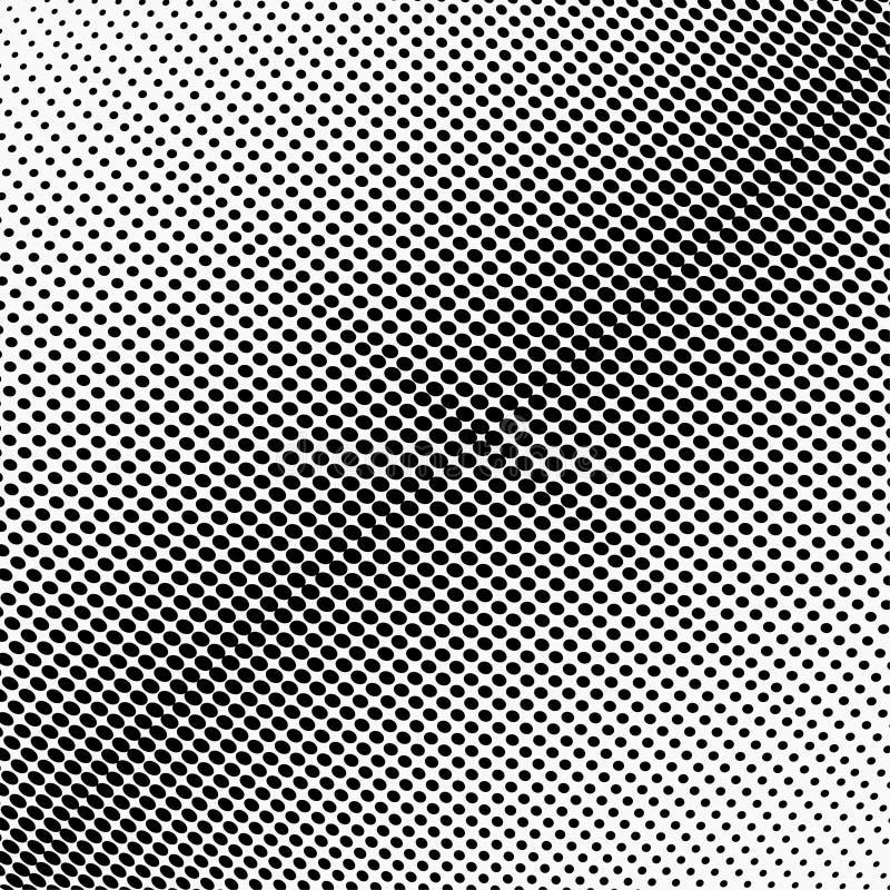 Modelo de semitono monocromático abstracto Ejemplo del vector de la plantilla del diseño con los puntos Fondo punteado moderno pa stock de ilustración