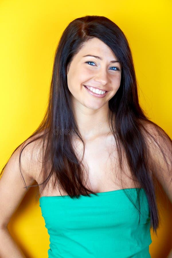Modelo de sorriso da mulher fotos de stock royalty free