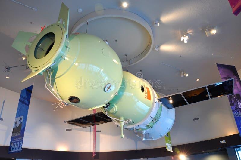 Modelo de Soyuz en Centro Espacial Kennedy fotografía de archivo