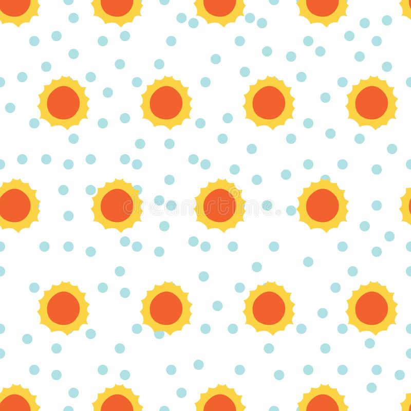Modelo de Sun en fondo de los puntos stock de ilustración