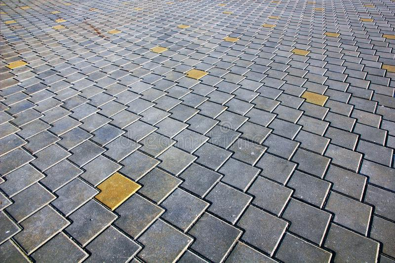 Modelo de tejas de pavimentación modernas Perspectiva de disminución fotografía de archivo libre de regalías