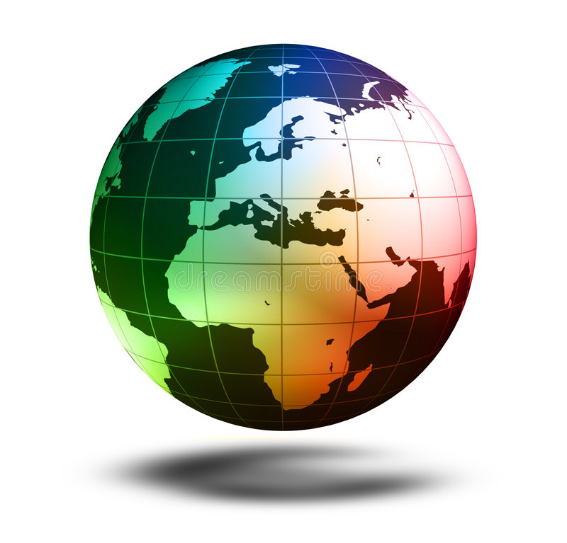 Modelo de terra: Opinião de Europa ilustração royalty free