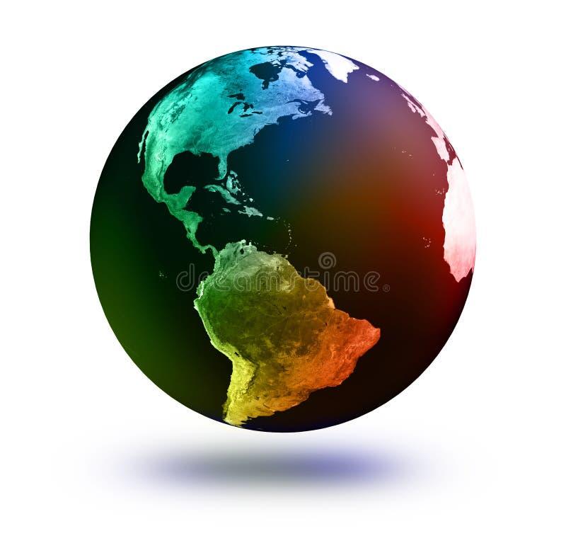 Modelo de terra: Opinião dos EUA ilustração do vetor
