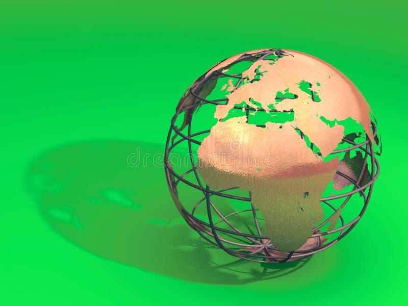 Modelo de tierra stock de ilustración