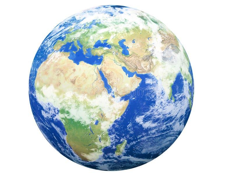 Modelo de tierra: Opinión de Europa imagen de archivo libre de regalías
