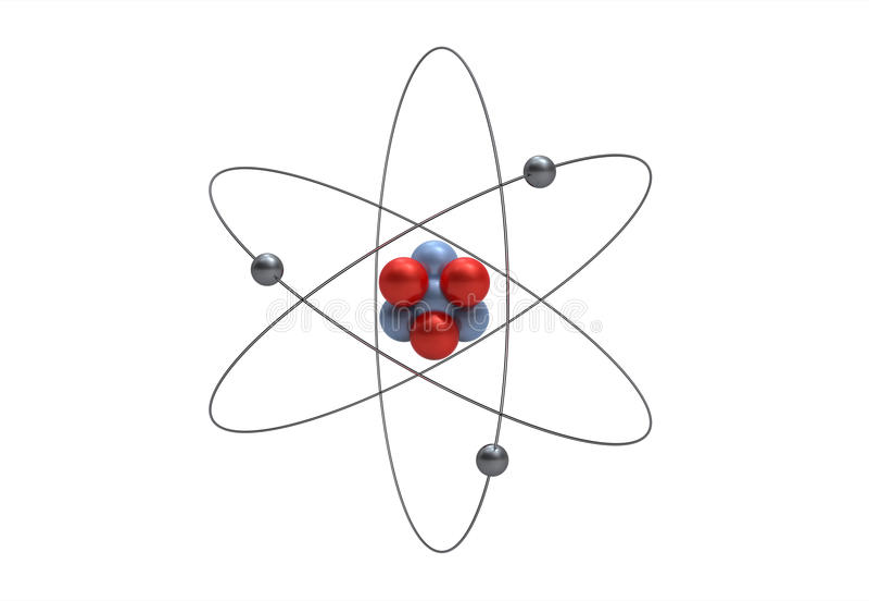 Modelo de um átomo do lítio ilustração stock