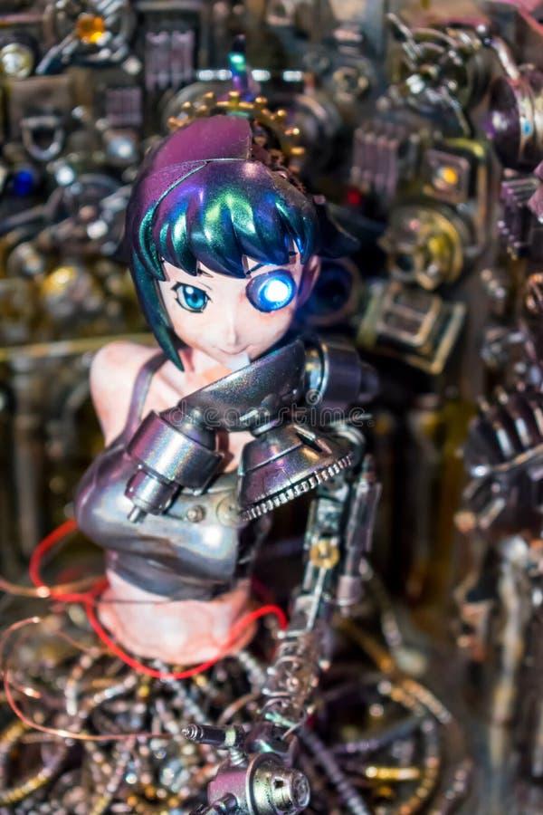 Modelo de un androide femenino imagen de archivo