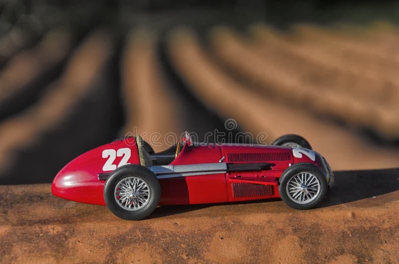 Modelo de un coche de competición clásico foto de archivo