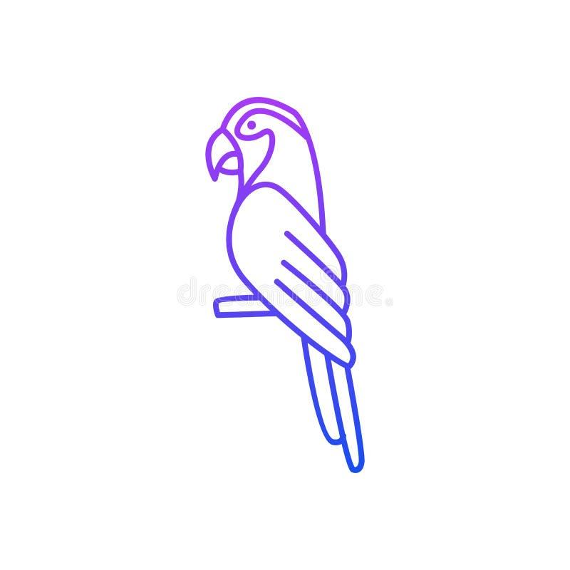 Modelo de Vetor de Conceitos de Arte de Linha de Pássaros ilustração royalty free