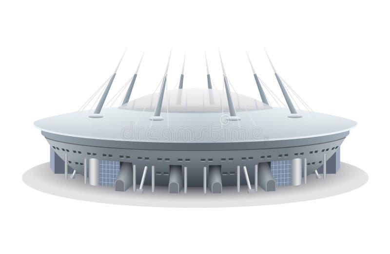 Modelo de vetor do estádio de futebol ilustração do vetor