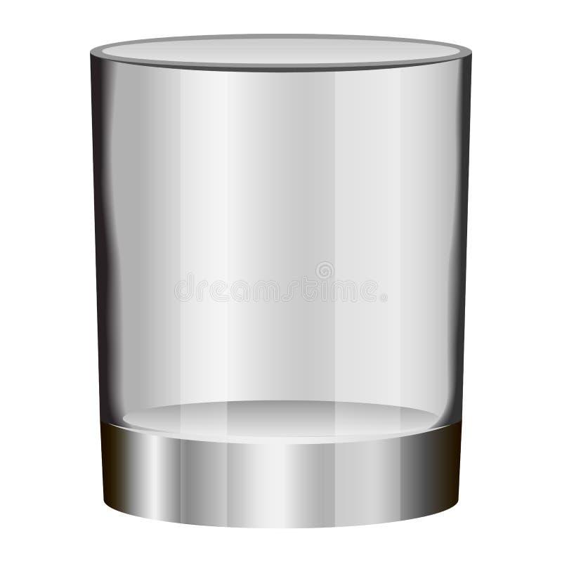 Modelo de vidro vazio, estilo realístico ilustração stock