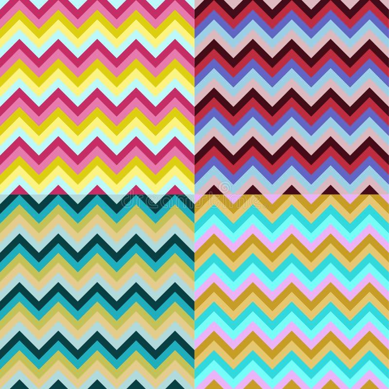 Modelo de zigzag stock de ilustración