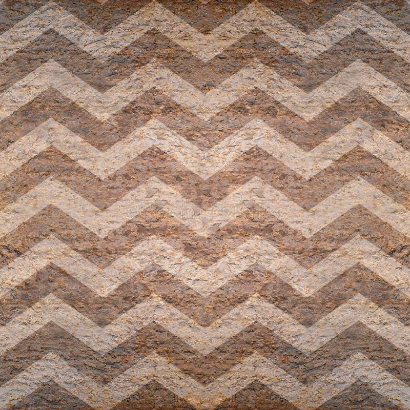 Modelo de zigzag abstracto - fondo inconsútil - superficie de piedra ilustración del vector