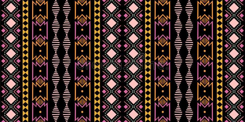 Modelo de zigzag abstracto para el diseño de la cubierta Fondo africano retro del vector Inconsútil decorativo geométrico ilustración del vector