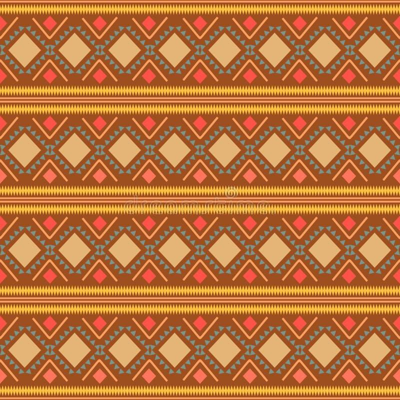 Modelo de zigzag abstracto para el diseño de la cubierta Fondo retro del vector del galón Tema anaranjado inconsútil decorativo g imagenes de archivo