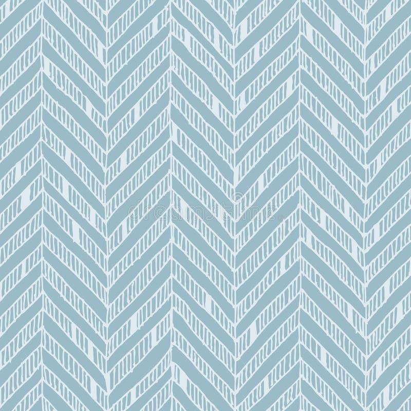 Modelo de zigzag azul y blanco, colores en colores pastel y líneas delicadas ilustración del vector