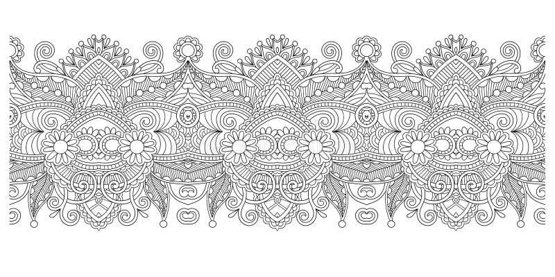 Modelo decorativo de la raya, diseño floral de Paisley libre illustration