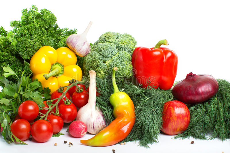 Modelo decorativo de verduras frescas fotos de archivo