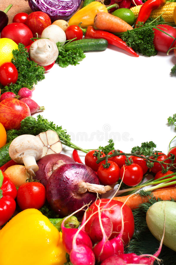 Modelo decorativo de verduras frescas fotografía de archivo libre de regalías