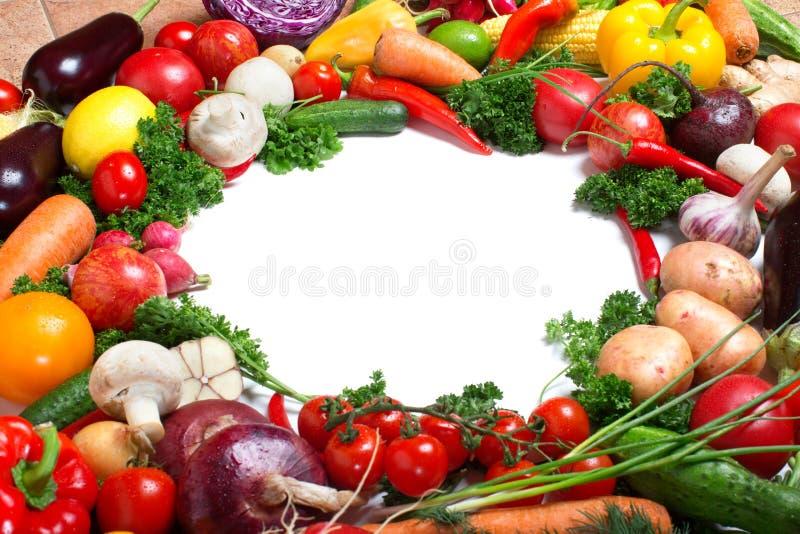 Modelo decorativo de verduras frescas foto de archivo