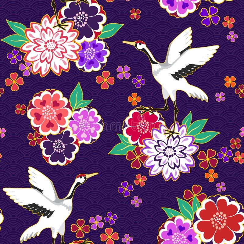 Modelo decorativo del kimono ilustración del vector