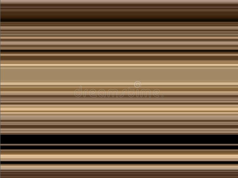 Modelo decorativo del oro marrón dinámico moderno abstracto stock de ilustración