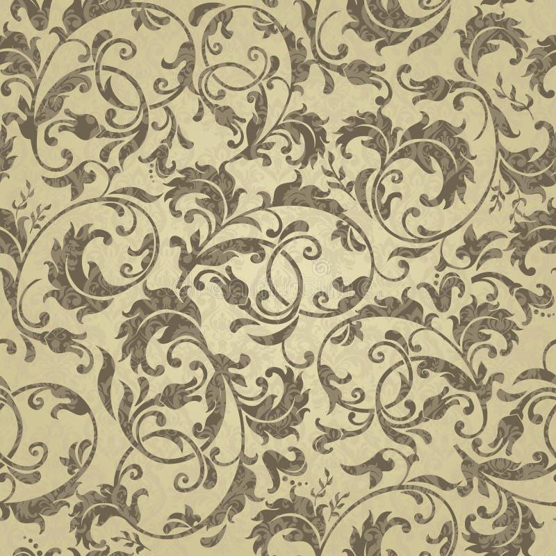 Modelo decorativo del vector incons?til con el ornamento Fondo para imprimir en el papel, papel pintado, materias textiles, telas ilustración del vector