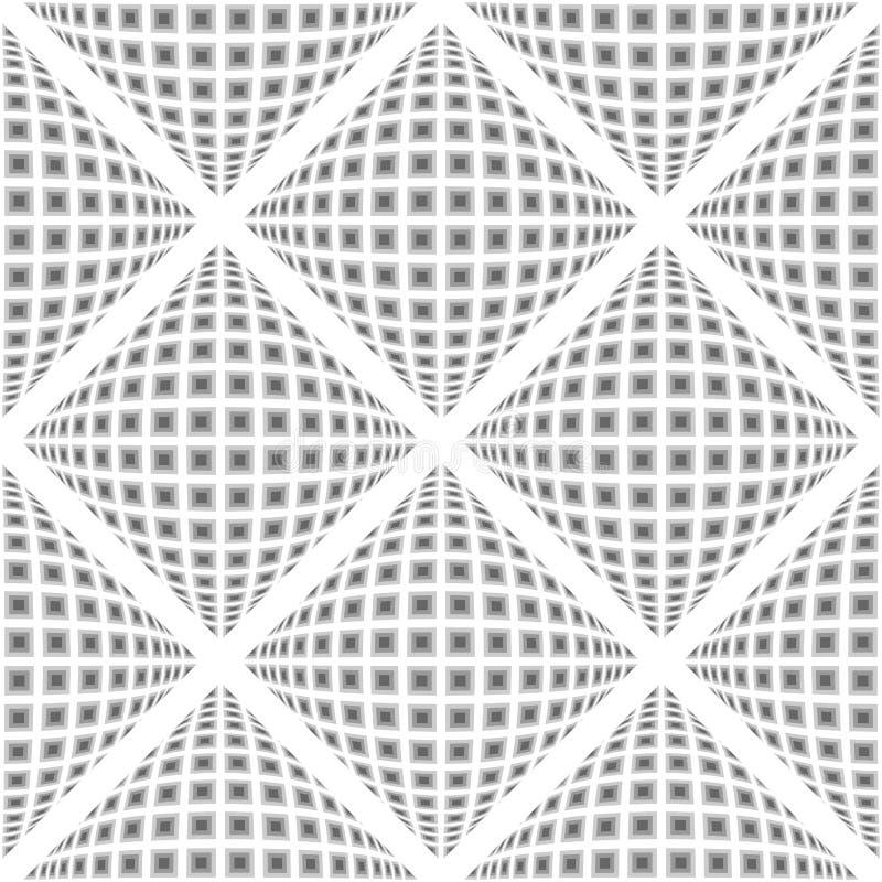 Modelo deformado inconsútil del diamante del diseño stock de ilustración