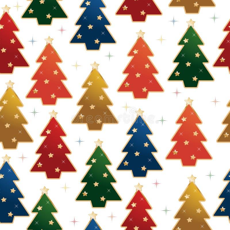 Modelo del árbol de navidad ilustración del vector