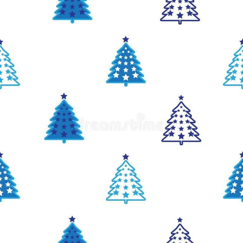 Modelo del árbol de navidad stock de ilustración