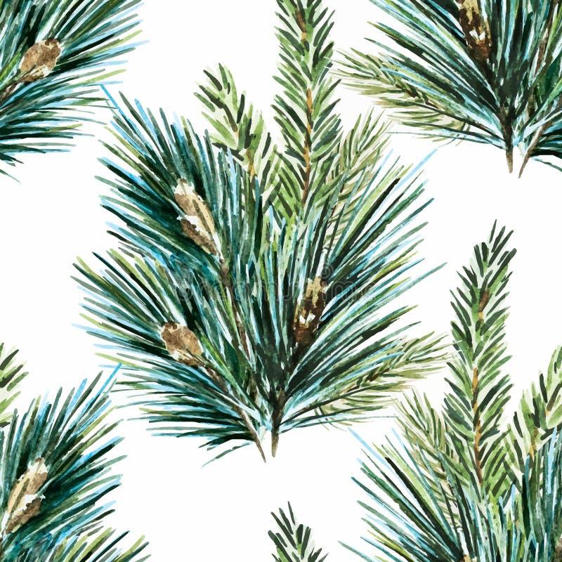 Modelo del árbol de navidad de la acuarela del vector libre illustration